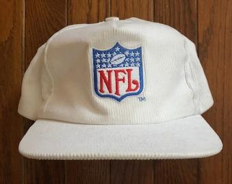 bc03fc93129 ... spain vintage 90s corduroy nfl referee white snapback hat baseball cap  4faf4 fcd6f