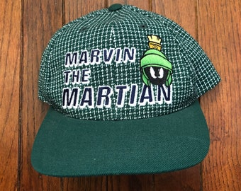 new product dbf7f 4dbae Vintage 90s Marvin the Martian Strapback Hat Baseball Cap
