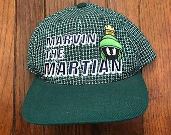3a10bdc2 Vintage 90s Marvin the Martian Strapback Hat Baseball Cap