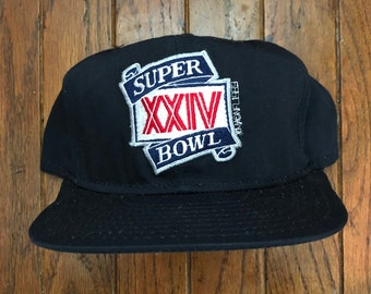 6c8708bc Vintage 80s 90s Super Bowl XXIV San Francisco 49ers NFL Snapback Hat  Baseball Cap * Made In USA