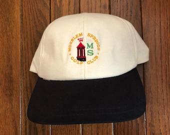 Vintage 90s Minimal MS Golf Club Dad Hat Strapback Hat Baseball Cap 51c9d763ad68
