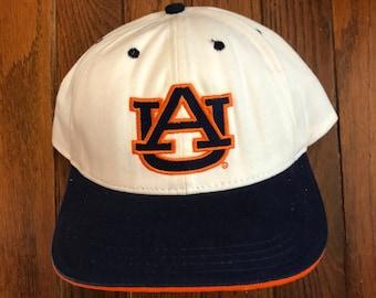 d9ce7e174a6 Vintage 90s Auburn Tigers University Snapback Hat Baseball Cap   Made In USA