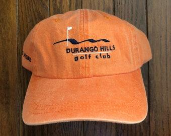 Vintage 90s Minimal Durango Hills Golf Club Unstructured Strapback Hat  Baseball Cap 6266fd71f450