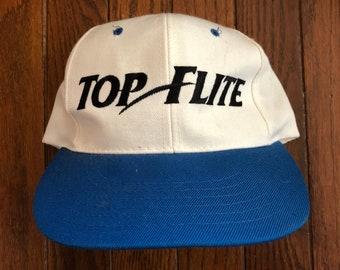 Vintage 90s Top Flite Golf Snapback Hat Baseball Cap 65af8681d95