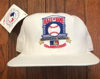 11e33cc1a Vintage Deadstock Hall of Fame Baseball MLB New Era Pro Model Snapback Hat  Baseball Cap * Made In USA