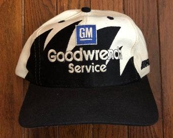 54af4cfa4 Vintage 90s GM Goodwrench Dale Earnhardt Nascar Logo Athletic Sharktooth  NFL Snapback Hat Baseball Cap