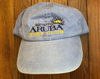 Vintage 90s Minimal Aruba Golf Club Unstructured Strapback Hat Baseball Cap 82f76a28569e