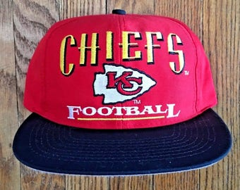 bf5508f149bfe Vintage 90s Kansas City Chiefs NFL Snapback Hat Baseball Cap