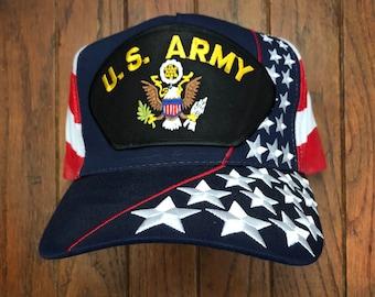 Men Womens Punk Rock Cap Machinist US American Flag Adjustable Flat Brim Baseball Caps