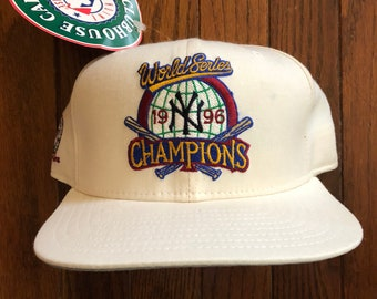 ed35af53eb6d8 discount new york yankees hats 321 f25d2 d4f49  good vintage 90s deadstock  1996 world series new york yankees champions new era pro model snapback