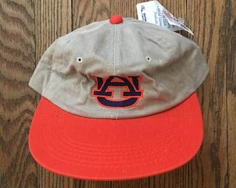 625c1b53d1eea ... buy vintage 90s deadstock auburn tigers university strapback hat  baseball cap made in usa 18f2e 377b1