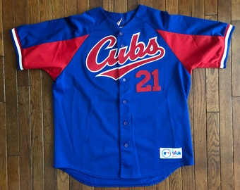 99b41d55259 Vintage 90s Chicago Cubs MLB Sammy Sosa Majestic Baseball Jersey Size - XL    Made In USA