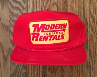 4f18d253b2f Vintage Modern Equipment Rentals Snapback Hat Baseball Cap Patch