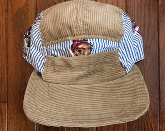 18ba36a461f Vintage 90s Corduroy Polo Bear Strapback Hat Baseball Cap   Made In USA