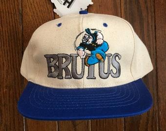 Vintage 90s Deadstock Brutus Popeye Snapback Hat Baseball Cap 48cb9db96431
