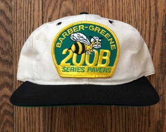 aa6b8c26eaf Vintage Cat Caterpillar Bee Snapback Hat Baseball Cap Patch   Made In USA