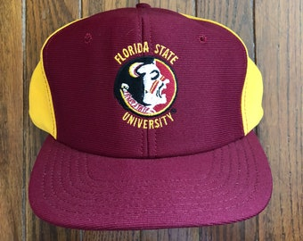 sports shoes d2552 d9572 ... france vintage 90s florida state university ncaa snapback hat baseball  cap made in usa 8f782 337b1