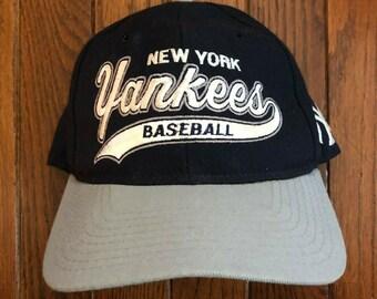 Vintage 90s New York Yankees MLB Wool Starter Script Snapback Hat Baseball  Cap 5791f7643