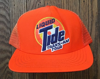 Vintage Tide Racing Team Mesh Trucker Hat Snapback Hat Baseball Cap Patch    Made In USA b36090f5524c