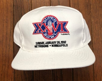 Vintage 90s Buffalo Bills Super Bowl XXVI New Era 1992 Metrodome  Minneapolis Minnesota Snapback Hat Baseball Cap 68ae5a84f