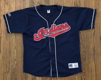 f664035aaf8 Vintage 90s Cleveland Indians MLB Majestic Baseball Jersey Size - XL   Made  In USA
