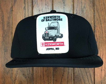 21e7d385 Vintage 80s 90s Deadstock Kenworth Trucks Trucking Snapback Hat Baseball Cap  Patch