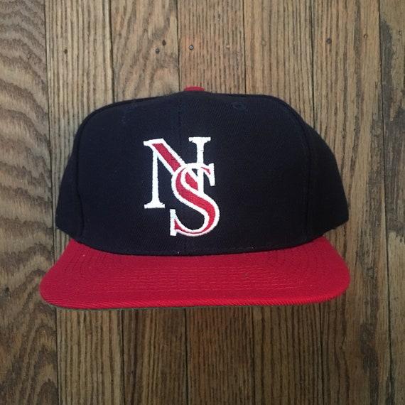 7a95099a353 Vintage 90s Minimal NS Snapback Hat Baseball Cap