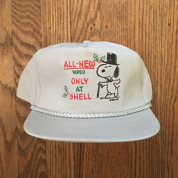 Vintage Snoopy Snapback Hat Baseball Cap  d66910fbef2