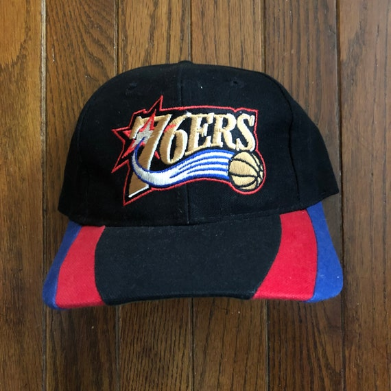 b09013a4d69 Vintage 90s Sixers Basketball Philadelphia 76ers NBA Snapback