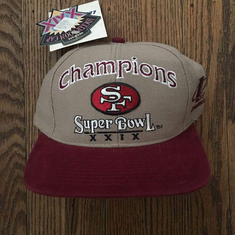 fbf30cf8082c5 Vintage 90s Deadstock San Francisco 49ers Niners Super Bowl