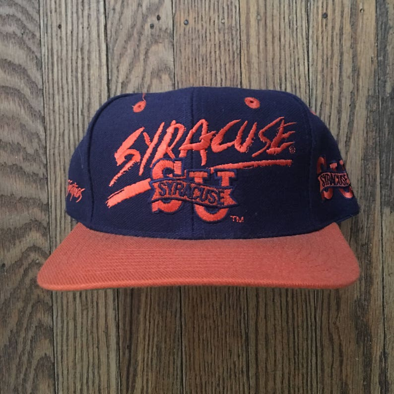 new product ad9f4 9e83e Vintage 90s Syracuse Orangemen NCAA Snapback Hat Baseball Cap   Etsy