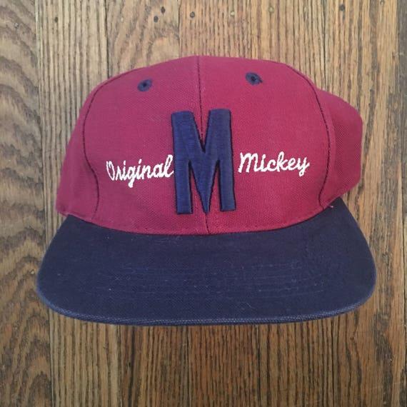 7e5c37b0b6485 Vintage Walt Disney World Mickey Mouse Snapback Hat Baseball