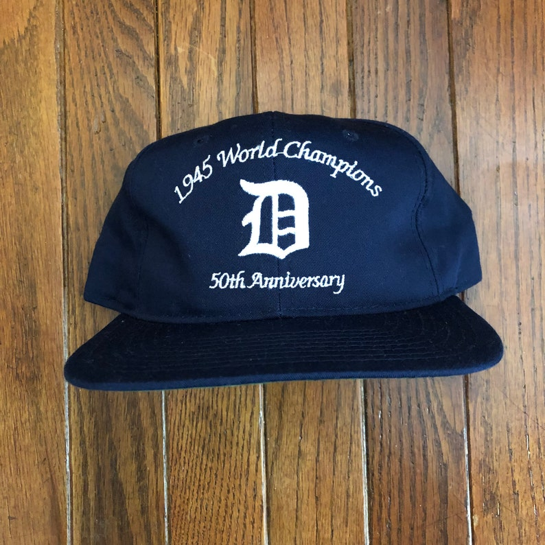 super popular 3df86 9ab06 Vintage 80s 90s Detroit Tigers MLB Snapback Hat Baseball Cap   Etsy