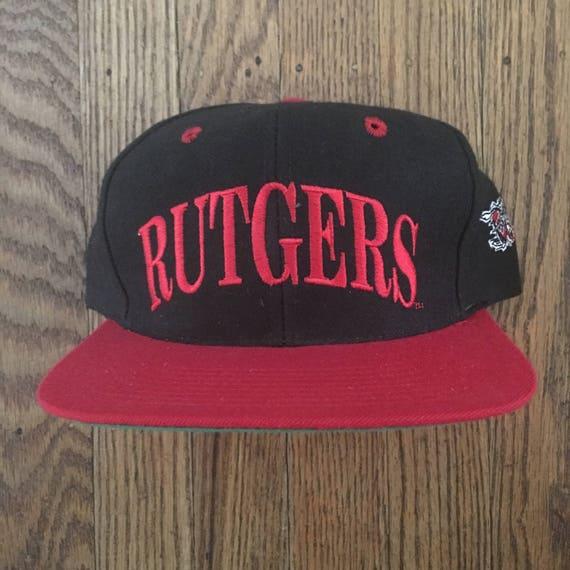 Vintage 90s The Game Rutgers University NCAA Snapback Hat  6ca4d31d804