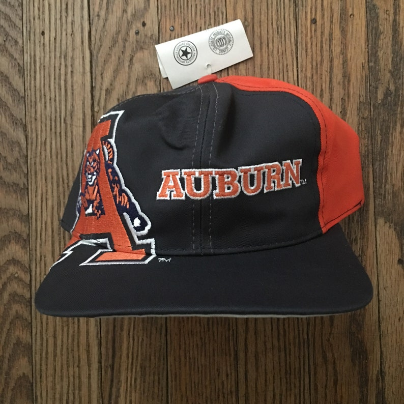 02d3788319373 Vintage 90s Deadstock Auburn Tigers University Snapback Hat
