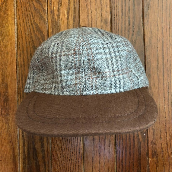 Vintage 90s Plaid Wool Strapback Hat Baseball Cap e79b34dfd2c