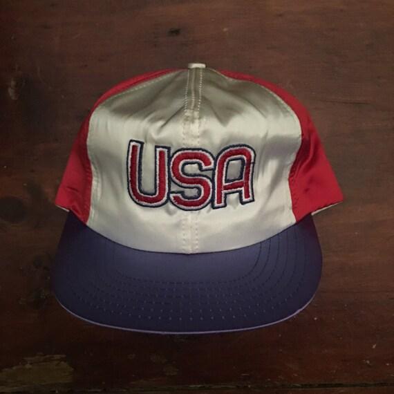 e5a9f02f715 Vintage USA United States Trucker Hat Snapback Baseball Cap