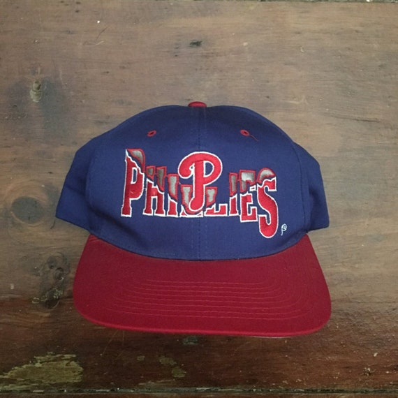Vintage 90s Philadelphia Phillies MLB Snapback Hat Baseball  2a73a1db9c06