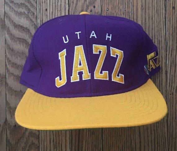 c9546877 Vintage 90s Starter Arch Utah Jazz NBA Snapback Hat Baseball | Etsy