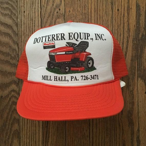 942bcf0d7b3 Vintage Simplicity Tractors Farm Equipment Mesh Trucker Hat