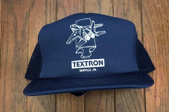 Vintage 80s 90s Textron Mesh Trucker Hat Snapback