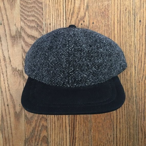 Vintage 90s Minimal Hunting Blank Wool Unstructured Strapback Hat Baseball  Cap 596b3152ef8