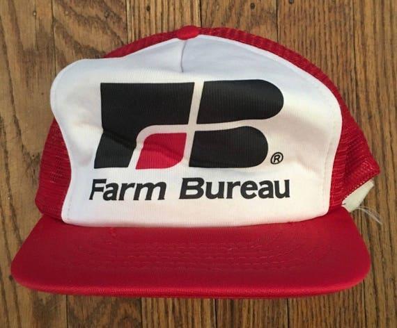 Vintage Farm Bureau Mesh Trucker Hat Snapback Baseball Cap  5ec18cd10e7