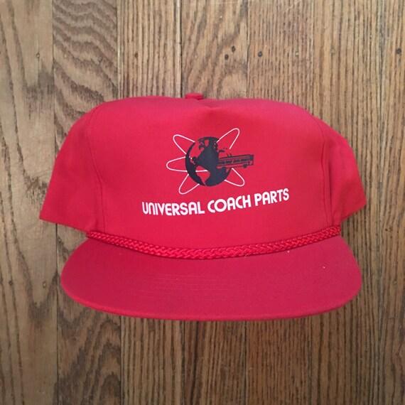 Vintage Universal Coach Bus Parts Snapback Hat Baseball Cap  45265f1d1264