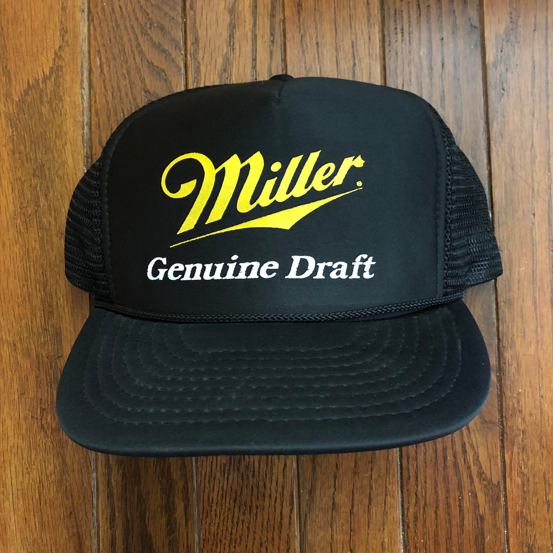 006a3df6e2d Vintage 90s Miller Genuine Draft MGD Beer Hat Mesh Trucker Hat