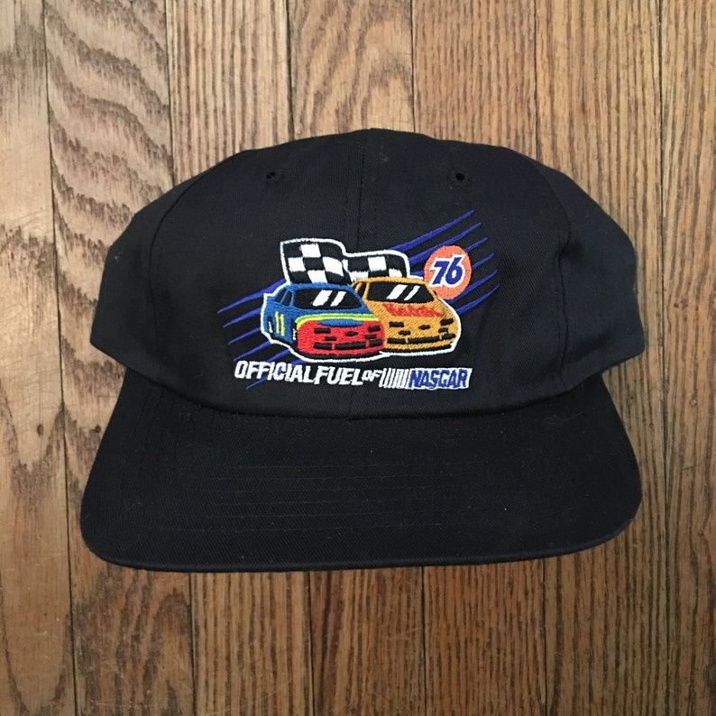 f820bfe1a Vintage 76 Official Fuel of NASCAR Snapback Hat Baseball Cap