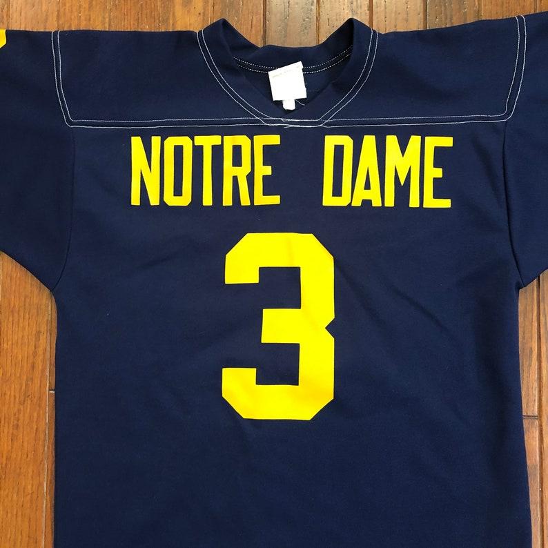 Large Vintage Notre Dame Fighting Irish Football Jersey