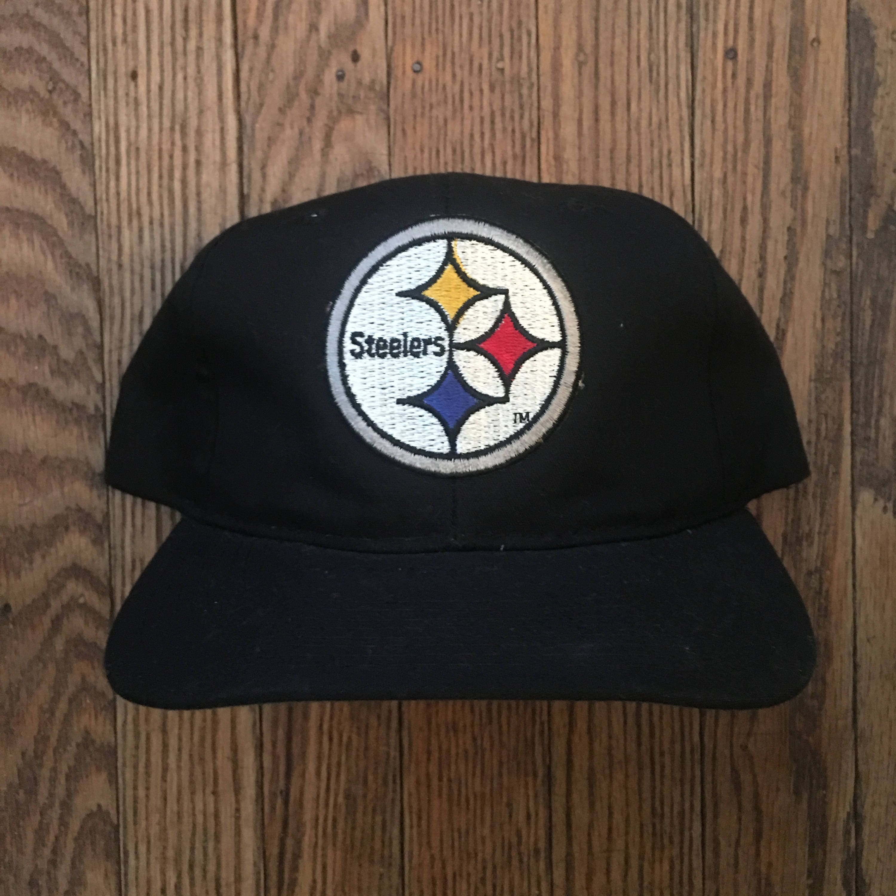 8fd1d322d6d70 Vintage 90s Pittsburgh Steelers NFL New Era Pro Model Snapback