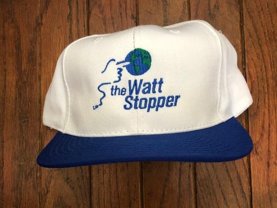 Vintage 80s 90s Watt Stopper Snapback Hat Baseball