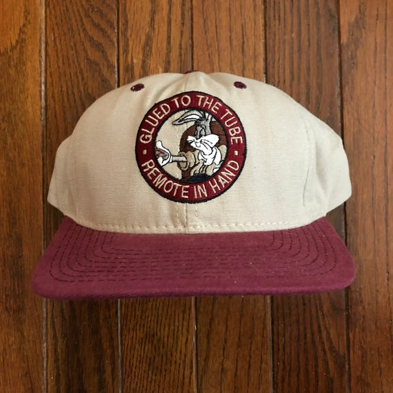 f9a46478f583b Vintage 90s Bugs Bunny Snapback Hat Baseball Cap Made In USA